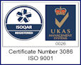 ISOQAR - Quality Assured Firm, UKAS - Quality Management - Certificate number: 3086